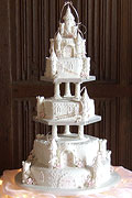 fairycastle wedding cake