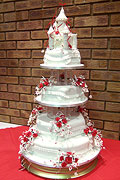 Hexagonal Castle Top Wedding Cake