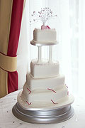 Sweetheart wedding cake